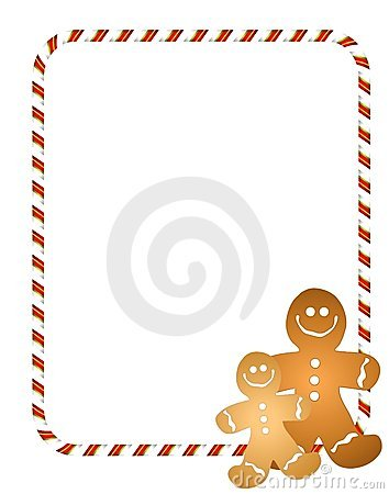 Candy Cane clipart christmas couple A with gingerbread men Art