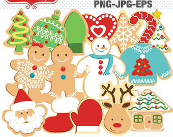 Candy clipart six Vector Gingerbread Clip Christmas Cookies