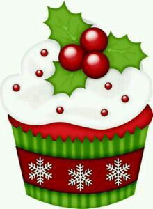 Muffin clipart christmas CLIP 20+ Cupcake clipart Best