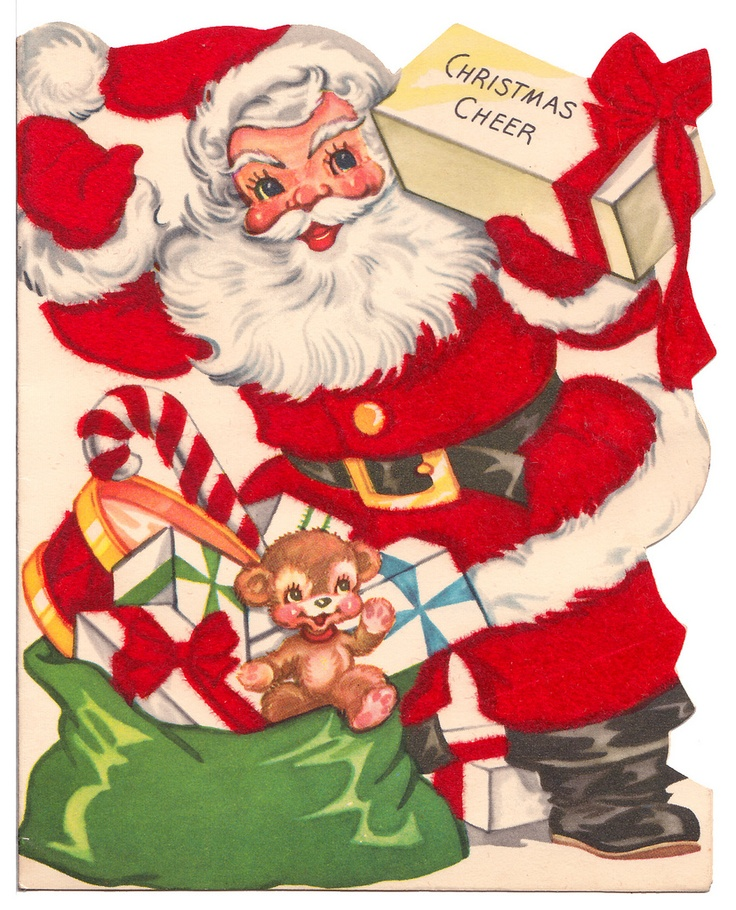 Candy Cane clipart christmas father On in Christmas Vintage Santa's