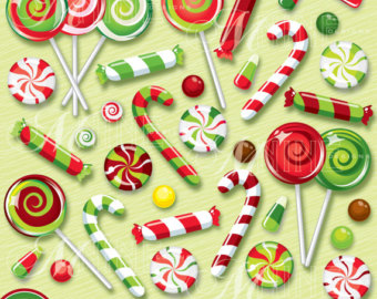 Candy Cane clipart christmas food