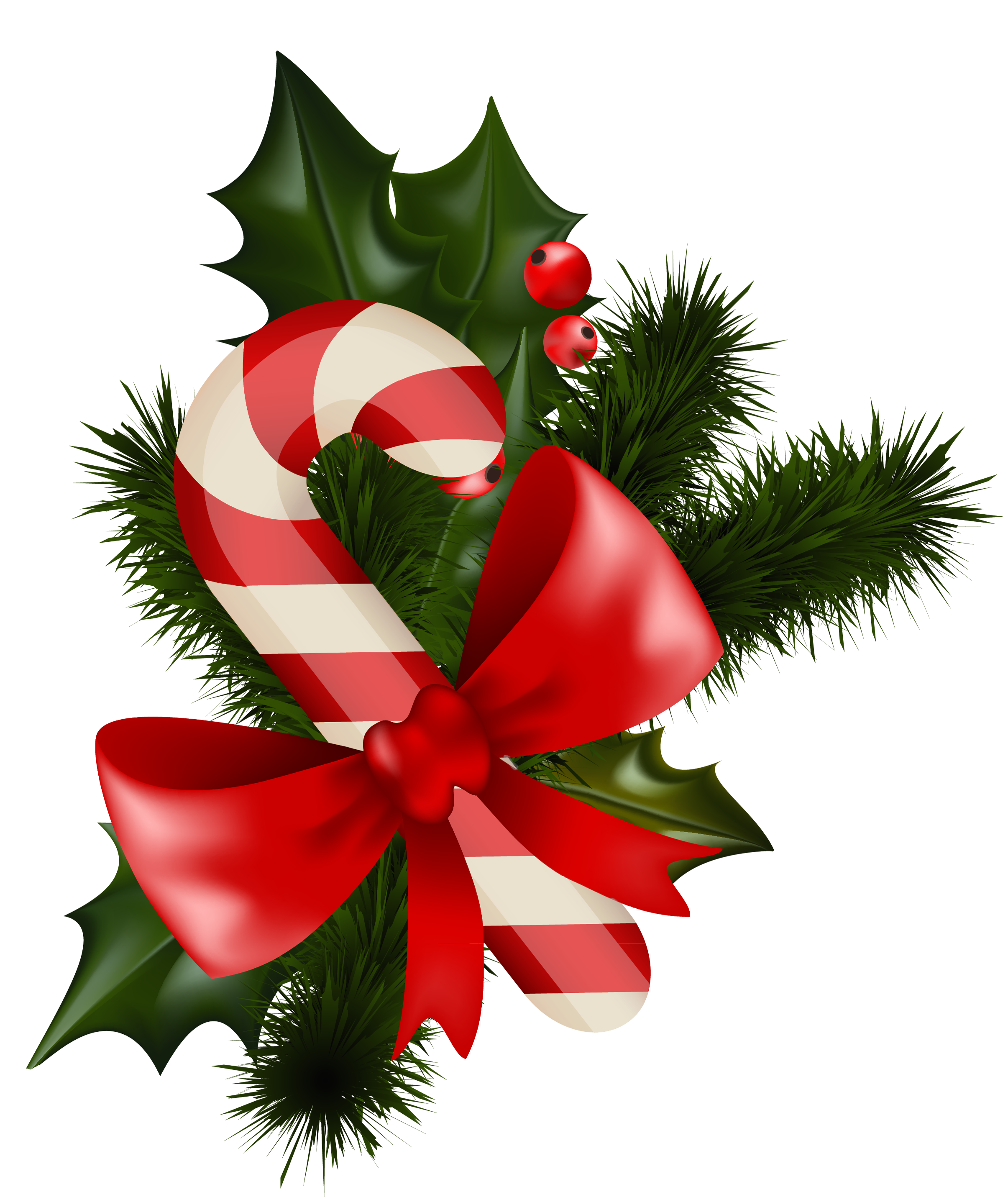 Candy Cane clipart christmas mistletoe Candy Cane free View