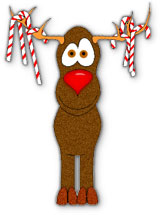 Reindeer clipart candy cane #3
