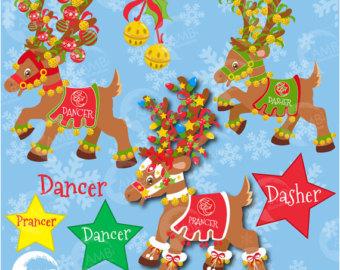 Candy Cane clipart christmas reindeer Elves Reindeer Xmas Clipart Clipart