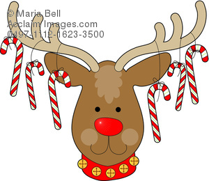 Candy Cane clipart christmas reindeer From with Hanging from Its