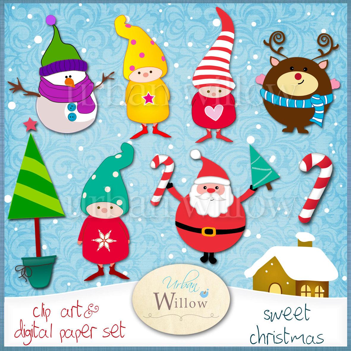 Candy Cane clipart christmas reindeer Clipart Santa Cane Digital Clipart