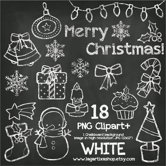 Merry Christmas clipart chalkboard Christmas Bells Christmas Gifts Christmas
