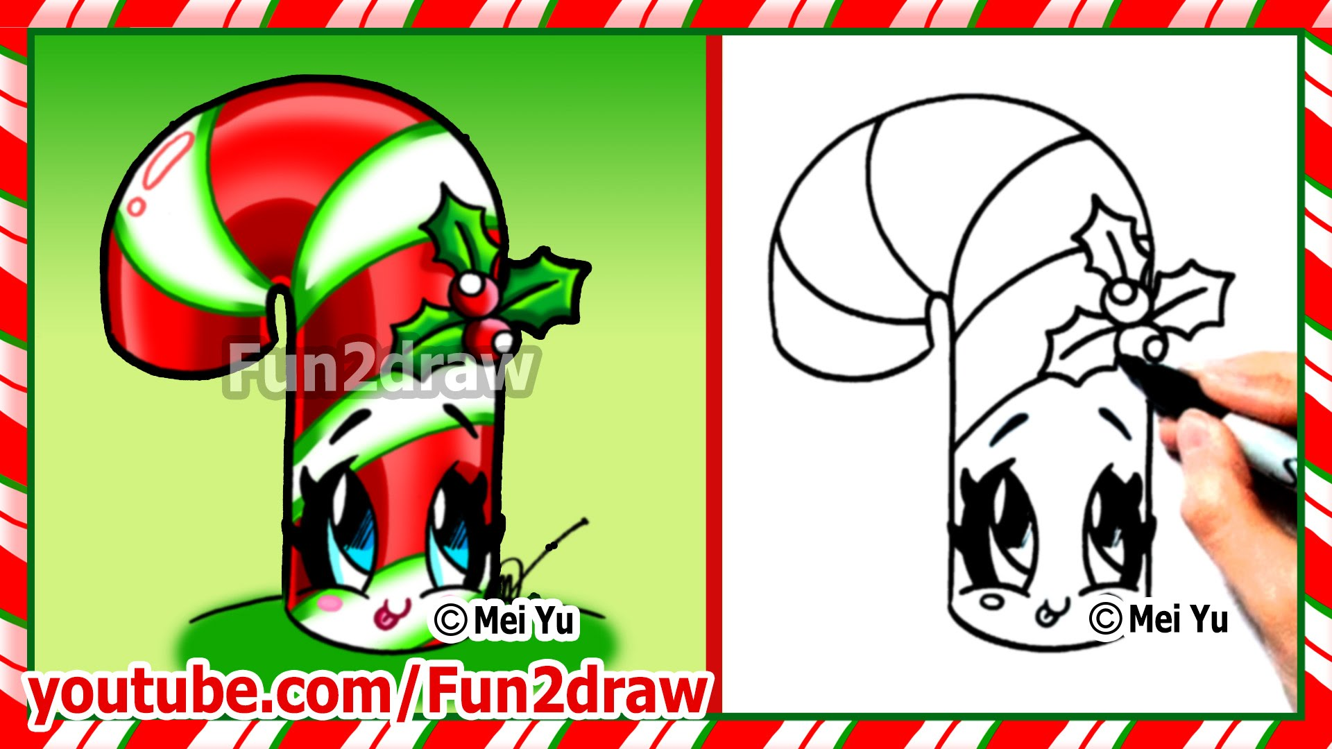 Drawn puppy fun christmas Cute Christmas Cane Fun2draw Things