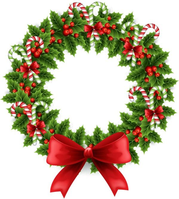 Candy Cane clipart christmas wreath Graphics Beautiful illustration wreath Best