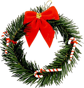 Candy Cane clipart christmas wreath Free Christmas Clipart with Christmas