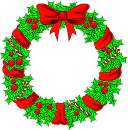 Wreath clipart transparent background With Christmas candy canes Clipart