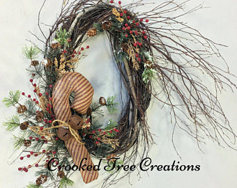 Candy Cane clipart christmas wreath Holiday Etsy Christmas Christmas wreath