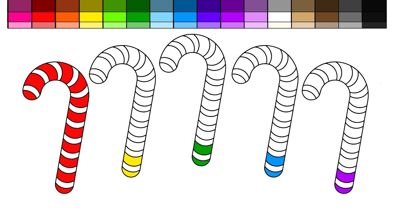Candy Cane clipart colorful For Pages Kids Learn and