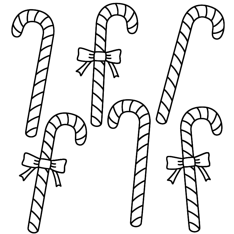 Candy clipart six (Christmas) Coloring Six coloring page