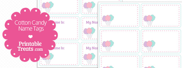 Candy Cane clipart cotton candy Printable Tags Cotton com Treats