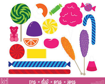 Candy Cane clipart cotton candy Candy svg Candy Etsy Lollipop