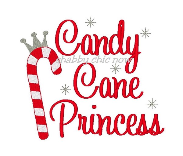 Candy Cane clipart cutie Embroidery  Princess Design Candy