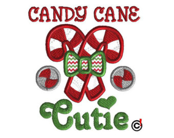 Candy Cane clipart cutie 3 cutie Embroidery Embroidery Applique