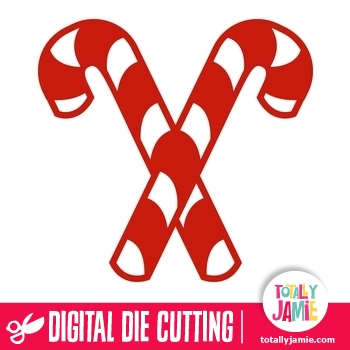 Candy Cane clipart double & Cutout TotallyJamie: Cut Files