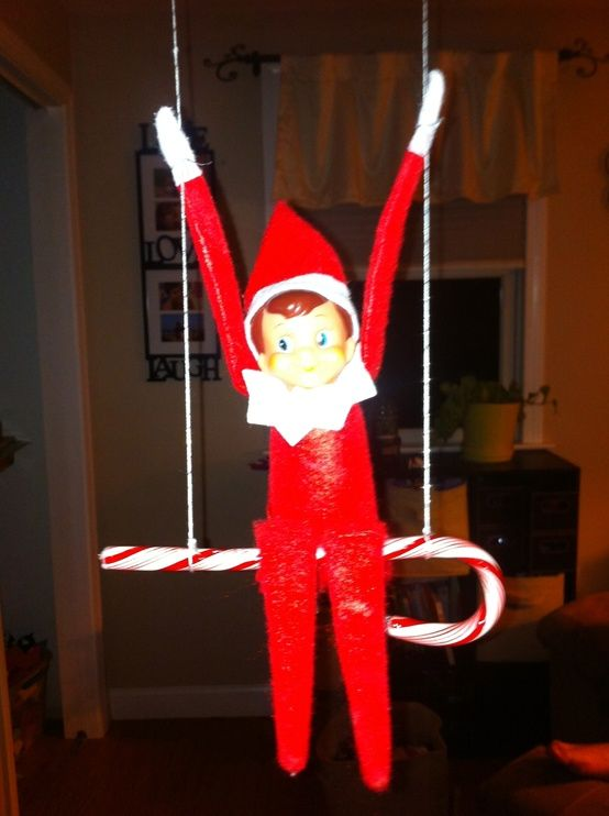 Candy Cane clipart elf on shelf On Shelf 130 the swinging