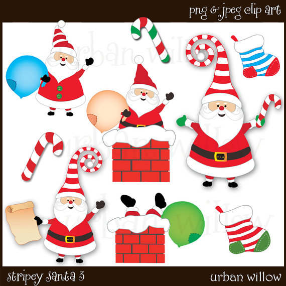Candy Cane clipart funny christmas Santa in Cute from Claus