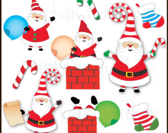 Candy Cane clipart funny christmas Santa in  Christmas Claus