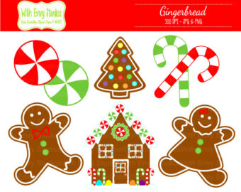Candy Cane clipart gingerbread house candy Clip Clip Christmas  Cane