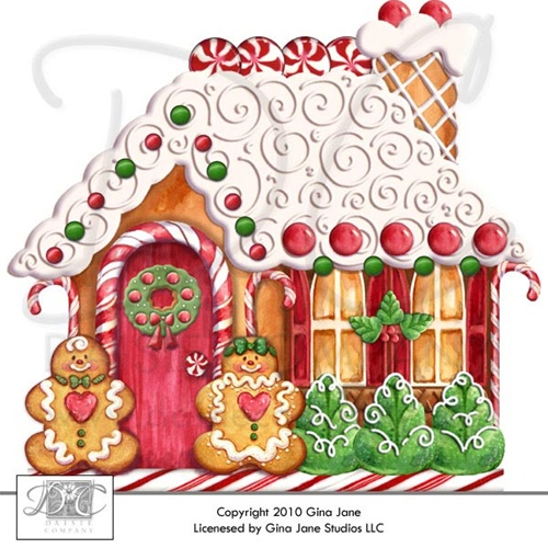 Candy Cane clipart gingerbread house candy COMPANY: DAISIE Printables Graphics House