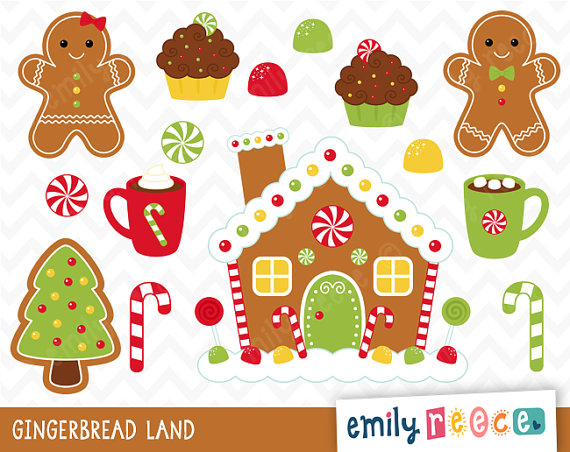 Candy Cane clipart gingerbread house candy House Gingerbread Free art (80+)