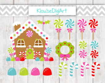 Candy Cane clipart gingerbread house candy Etsy Digital Christmas for Personal