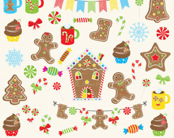 Candy Cane clipart gingerbread house candy Art Cane Candy Etsy Clipart