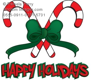 Holydays clipart candy cane Candy Happy Art Message Holidays
