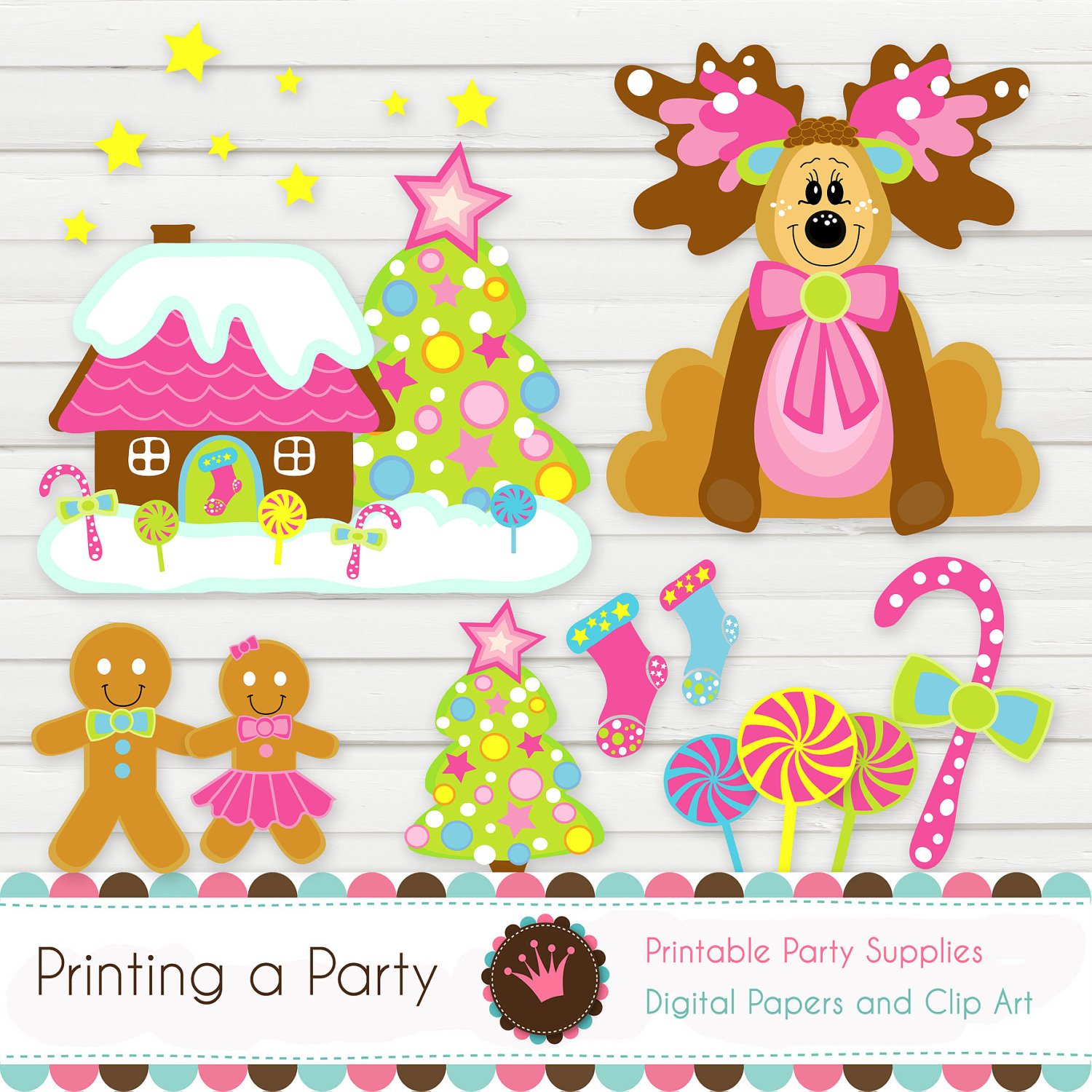 Gingerbread clipart party house Borders Gingerbread interior house clip