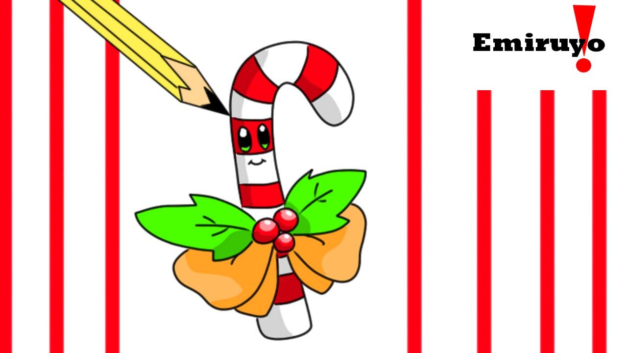 Candy Cane clipart kawaii Bastón Cómo dibujar  candy