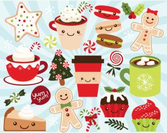 Candy Cane clipart kawaii Treats Sweet Christmas Winter Cup