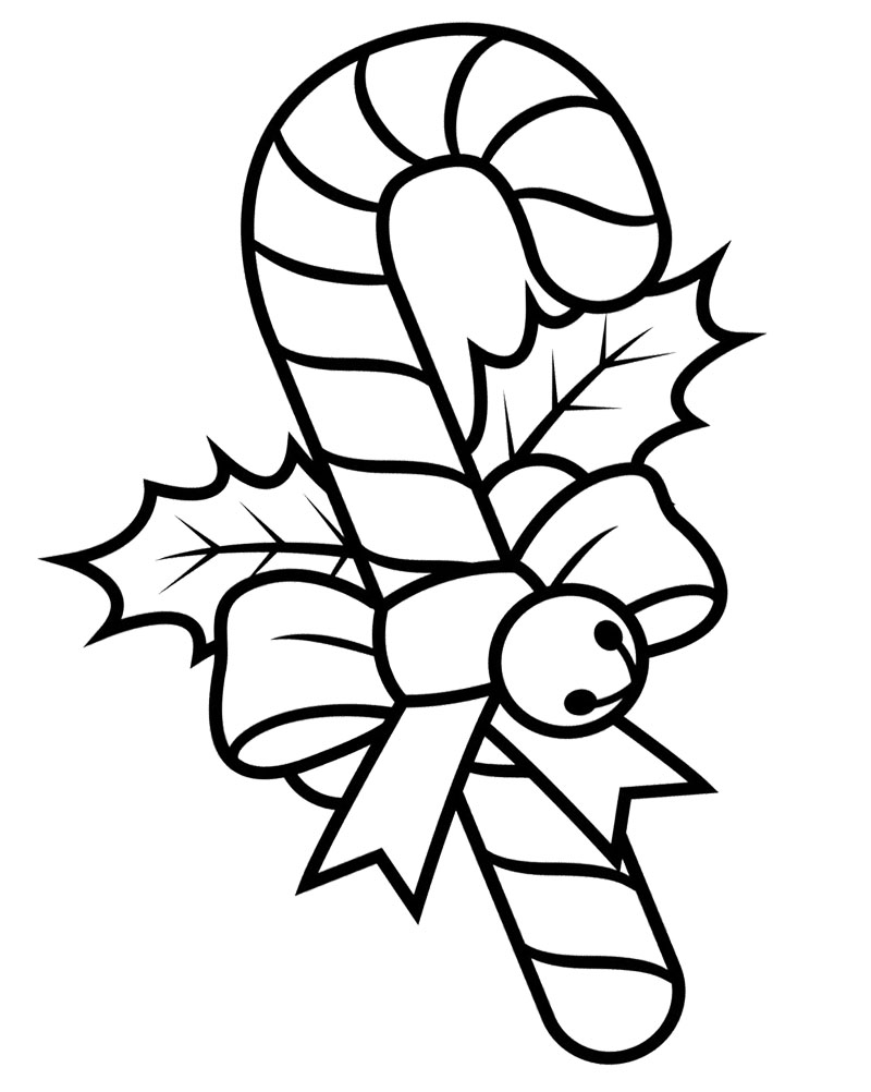Candy Cane clipart kids X3e Clipart Coloring Cane within