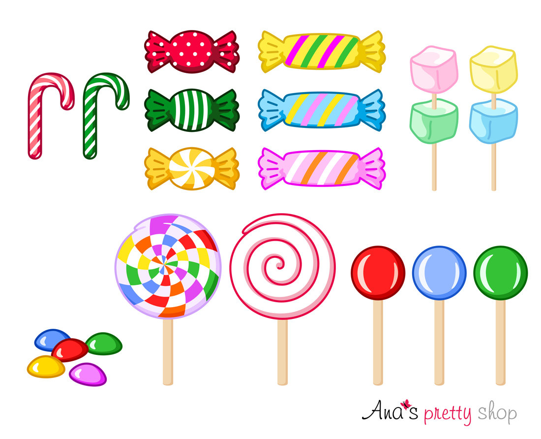Candy Cane clipart lollipops A is digital clipart This