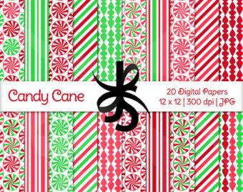 Background clipart candy cane Scrapbook Cane art Etsy Digital