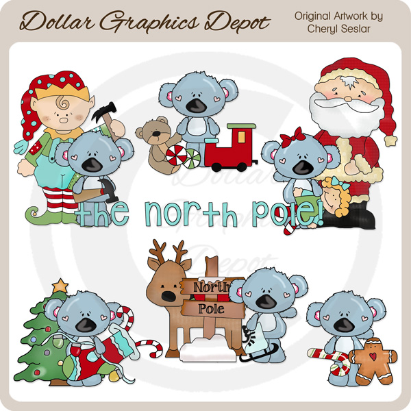 Candy Cane clipart pole 00 : North  Clip
