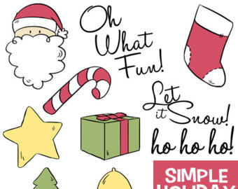 Candy Cane clipart simple It Etsy Shapes Holiday Art