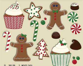 Christmas clipart sugar cookie Etsy cane cookie Christmas paper