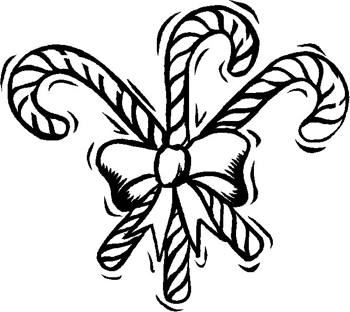 Candy Cane clipart three Bow Canes Page: Canes Three