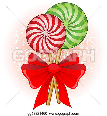 Candy Cane clipart xmas Decorated candy Clipart Vector bow
