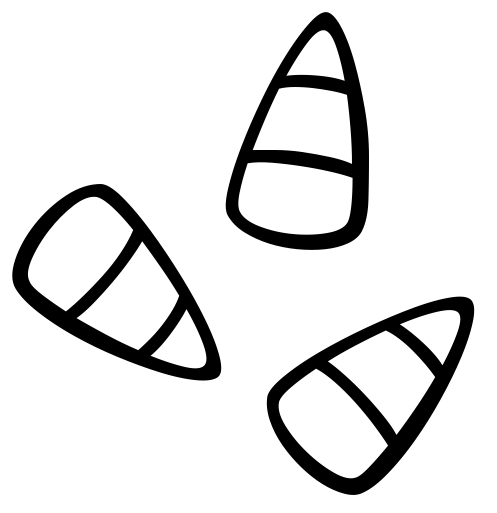 Black & White clipart candy Candy black art Candy white