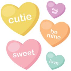 Candy clipart cotten  Candy hearts Candy heart