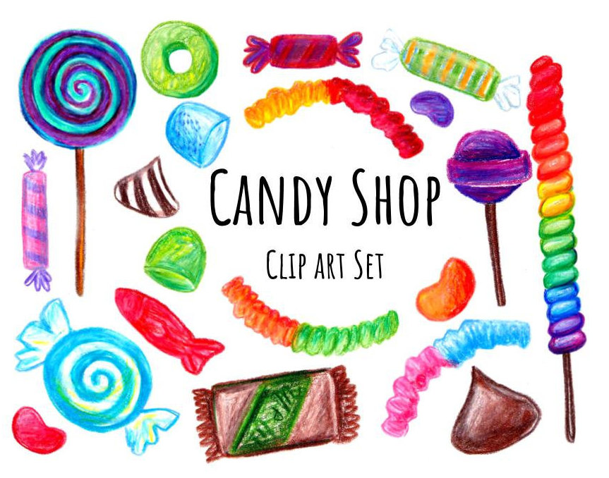 Candy clipart drawn Clip Hand Shop a candy