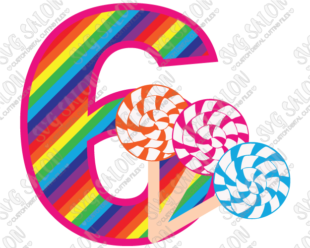 Candy clipart six Six SVG On DIY Old