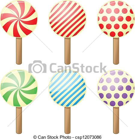 Candy clipart six Colors Set Vector Candy csp12073086