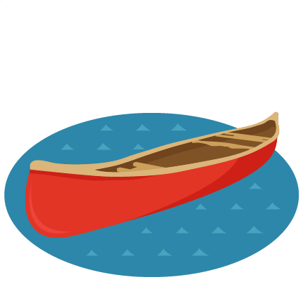 Canoe clipart Cute cute for svg cut