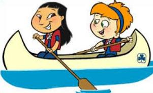 Canoe clipart Free Clipart a two girls